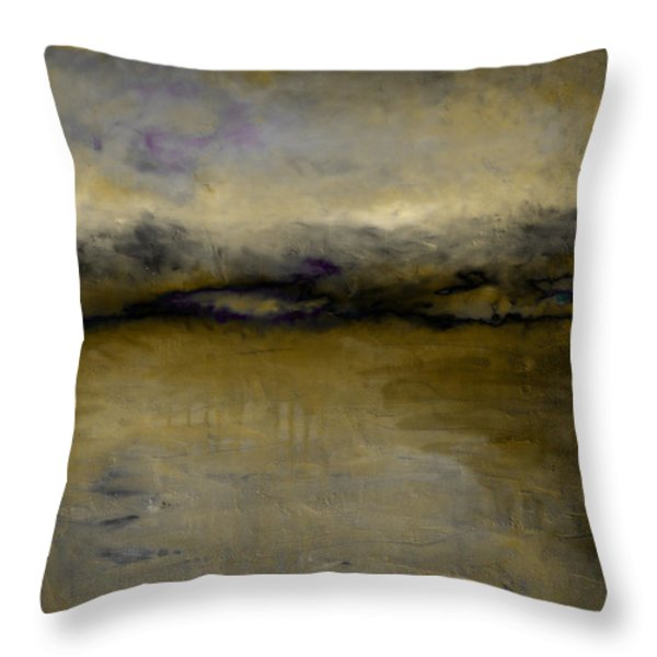 Pewter Skies Throw Pillow by Michelle Calkins