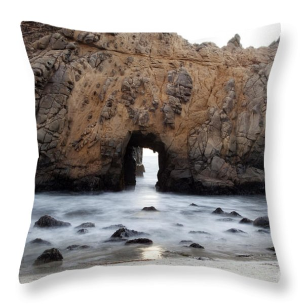 Pfeiffer Beach Arch Throw Pillow by Jenna Szerlag
