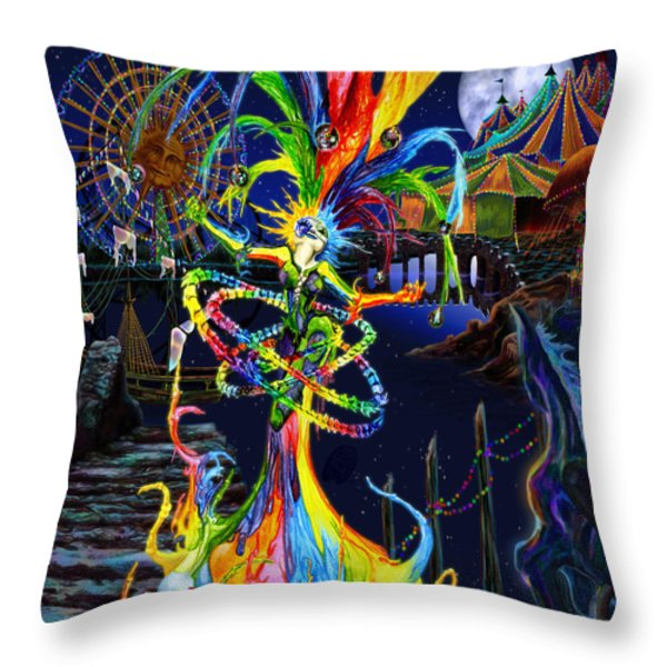 Phantom Carnival Throw Pillow by Kd Neeley