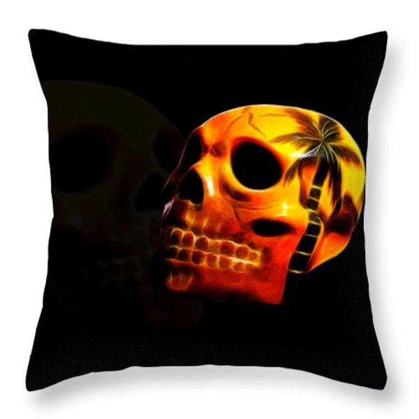 Phantom Skull Throw Pillow by Shane Bechler