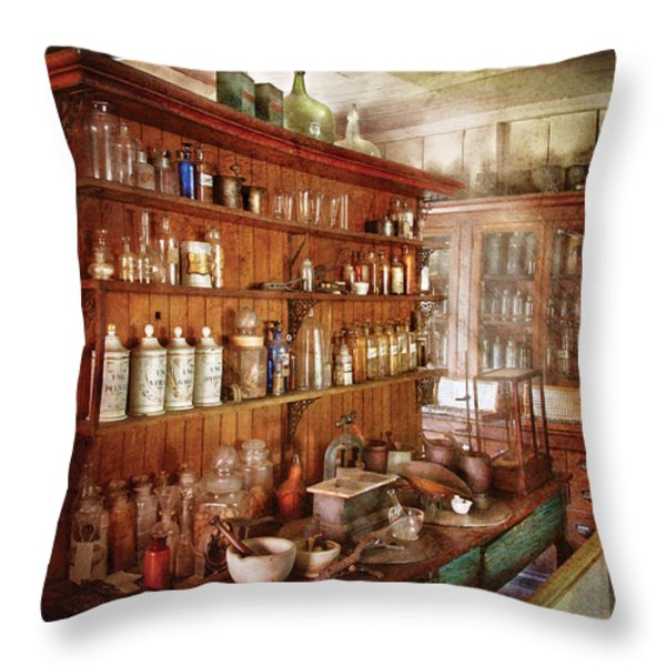 Pharmacist - Behind the scenes  Throw Pillow by Mike Savad