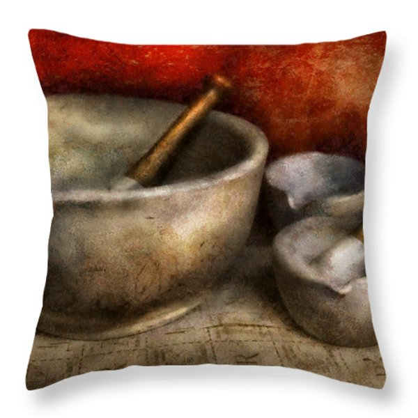 Pharmacist - Pestle and son  Throw Pillow by Mike Savad
