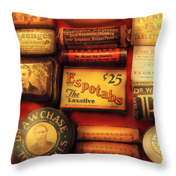 Pharmacist - The Druggist Throw Pillow by Mike Savad