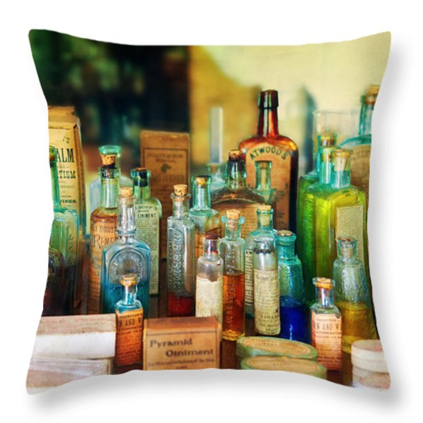 Pharmacist - Whatever ails ya - II Throw Pillow by Mike Savad