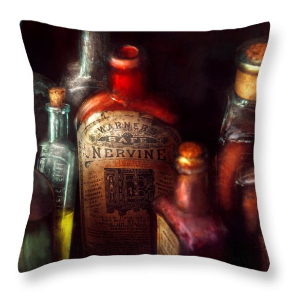 Pharmacy - A safe rheumatic cure  Throw Pillow by Mike Savad