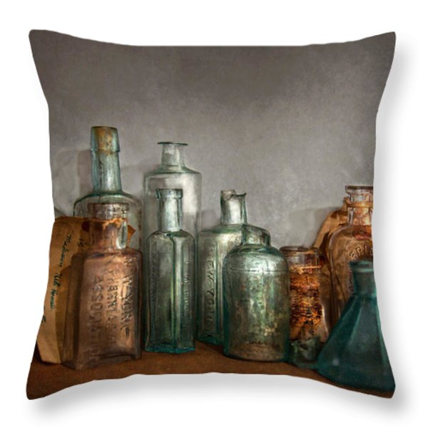 Pharmacy - Doctor I Need A Refill  Throw Pillow by Mike Savad