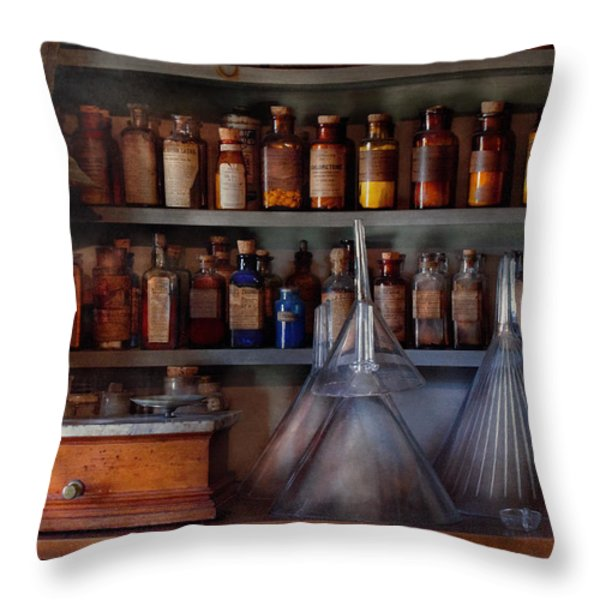 Pharmacy - Master of many trades  Throw Pillow by Mike Savad