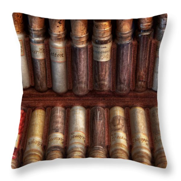 Pharmacy - Pharmacy cocktails mix Throw Pillow by Mike Savad