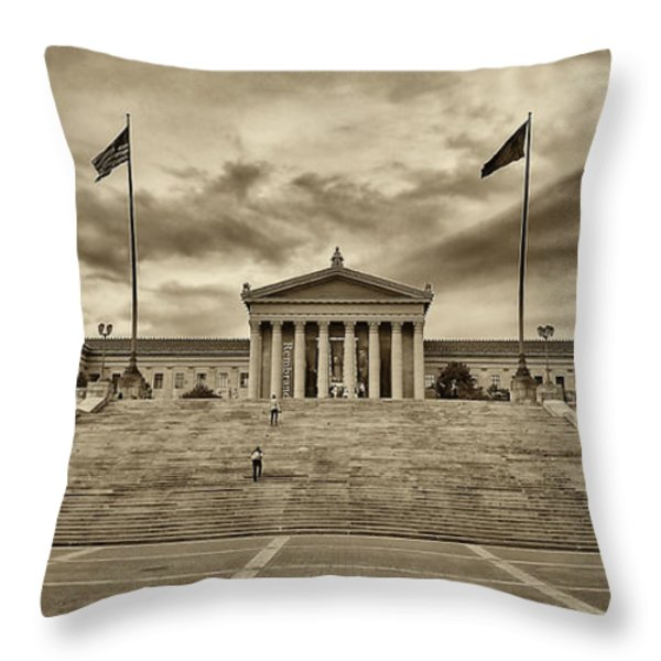 Philadelphia Art Museum 4 Throw Pillow by Jack Paolini