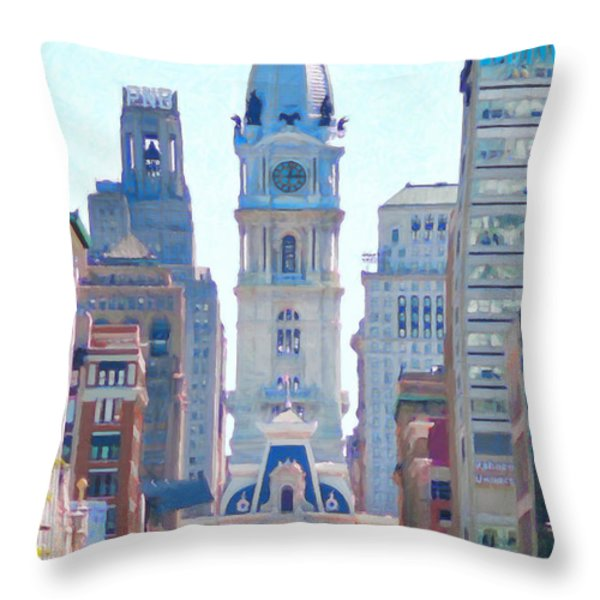 Philadelphia City Hall 20130703 Throw Pillow by Wingsdomain Art and Photography