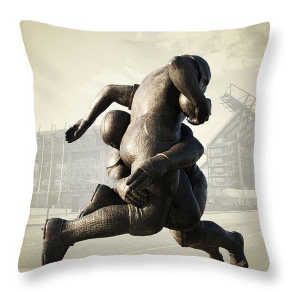 Philadelphia Eagles Throw Pillow by Bill Cannon