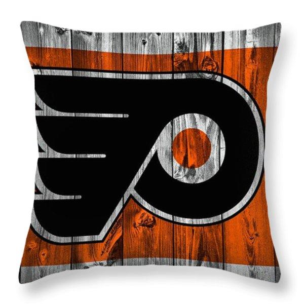 Philadelphia Flyers Barn Door Throw Pillow by Dan Sproul