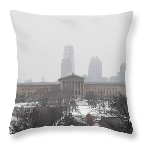 Philadelphia from Lemon Hill Throw Pillow by Bill Cannon