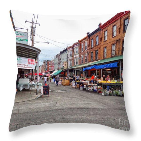 Philadelphia Italian Market 4 Throw Pillow by JACK PAOLINI