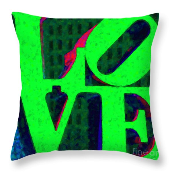 Philadelphia LOVE - Painterly v3 Throw Pillow by Wingsdomain Art and Photography