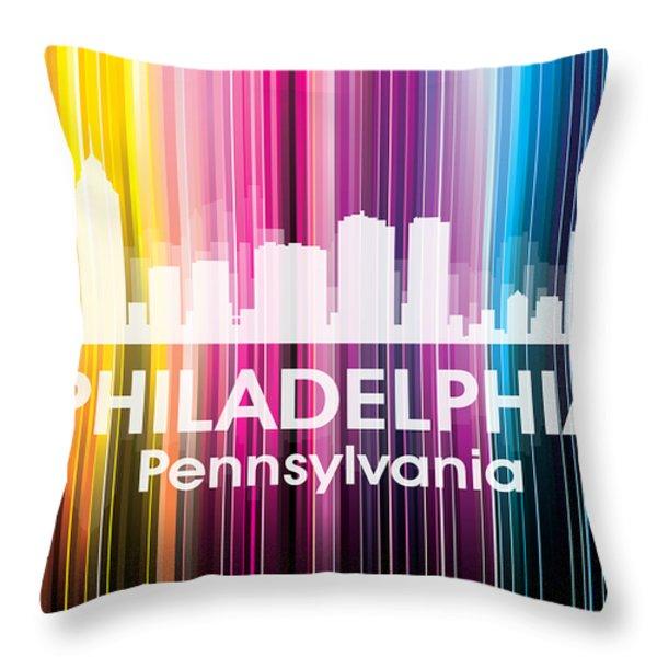 Philadelphia Pa 2 Throw Pillow by Angelina Vick