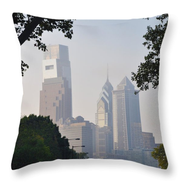 Philadelphia's Skyscrapers Throw Pillow by Bill Cannon
