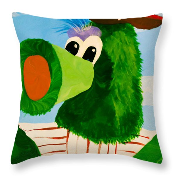 Philly Phanatic Throw Pillow by Trish Tritz