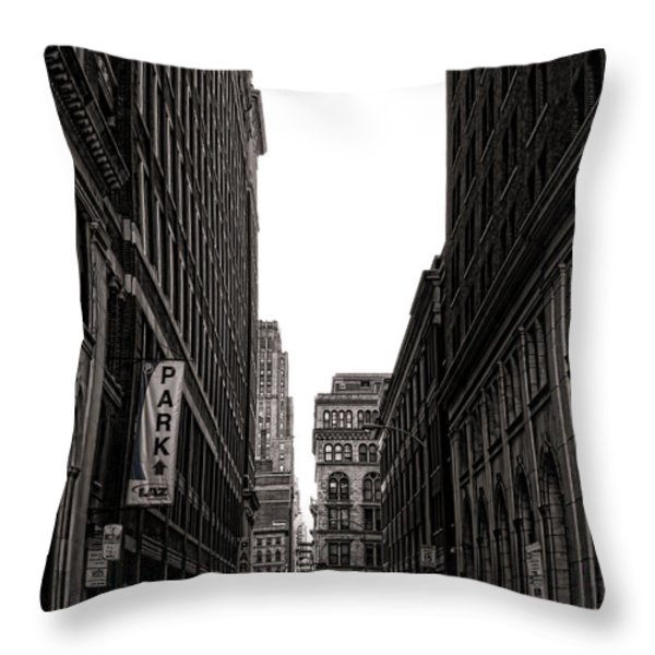 Philly Street Throw Pillow by Olivier Le Queinec