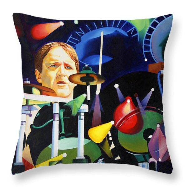 Phish Full Band Fishman Throw Pillow by Joshua Morton