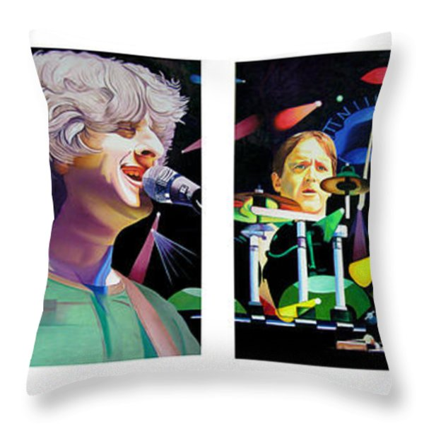 Phish Full Band Throw Pillow by Joshua Morton