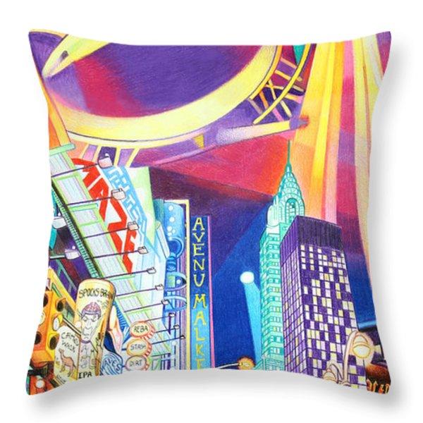 Phish New Years In New York Left Panel Throw Pillow by Joshua Morton
