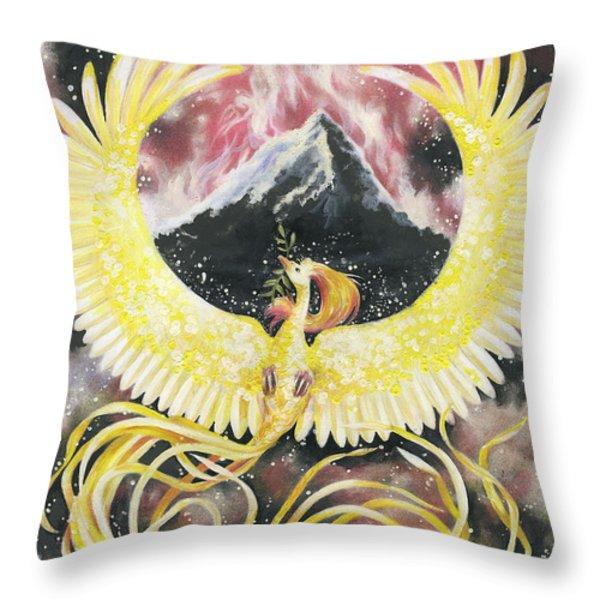 Phoenix Throw Pillow by Charity Goodwin