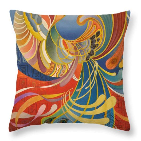 Phoenix Throw Pillow by Ousama Lazkani