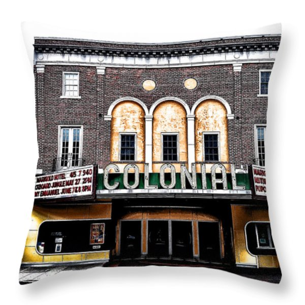 Phoenixville's Colonial Theater Throw Pillow by Bill Cannon