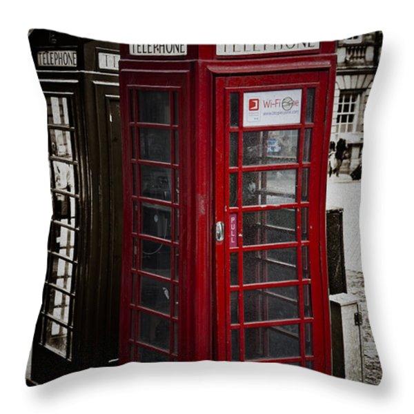 Phone Home Throw Pillow by Erik Brede