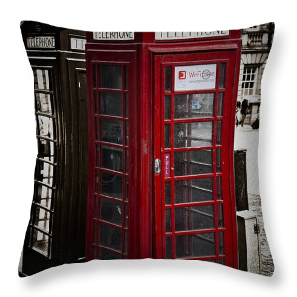 Phone Home Throw Pillow by Erik Brede