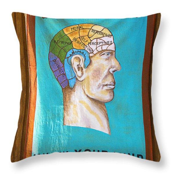 Phrenology Throw Pillow by Garry Gay