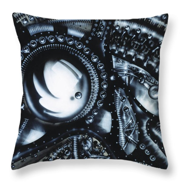 Piano Throw Pillow by James Christopher Hill