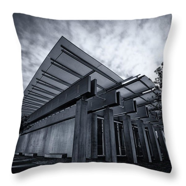 Piano Pavilion Bw Throw Pillow by Joan Carroll