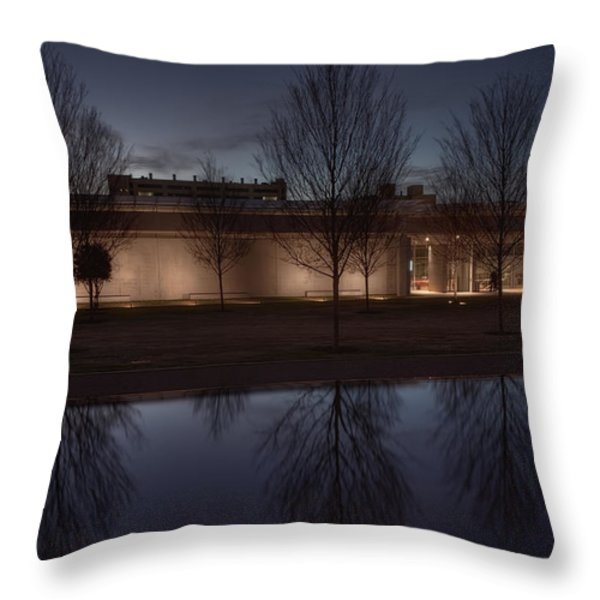 Piano Pavilion Night Reflections Throw Pillow by Joan Carroll