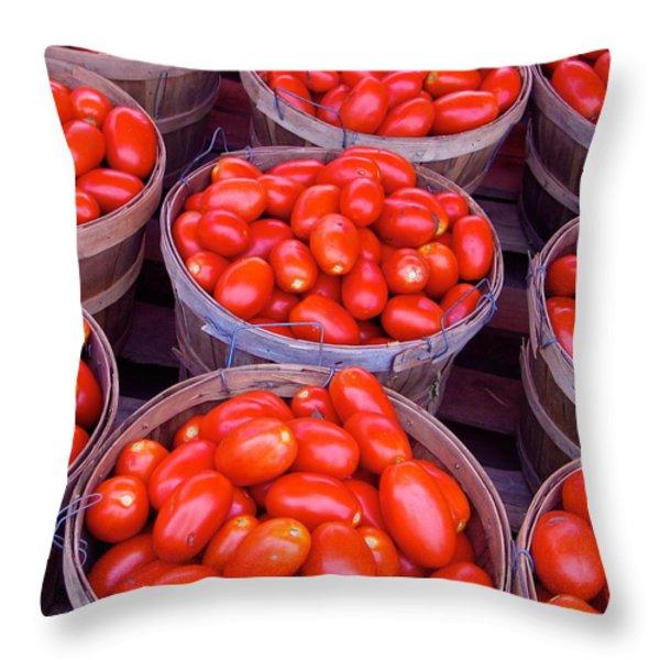 Pick a Peck Throw Pillow by Rhonda Leonard