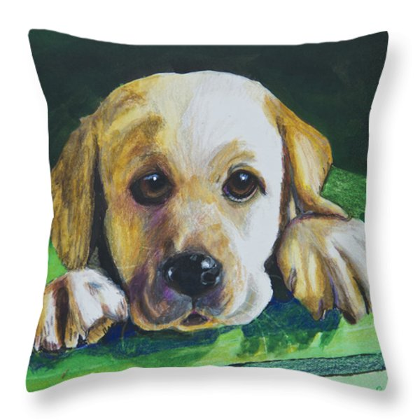 Pick Me Throw Pillow by Roger Wedegis
