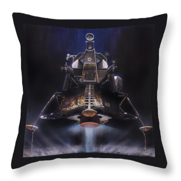 Picking Up Some Dust Throw Pillow by Simon Kregar