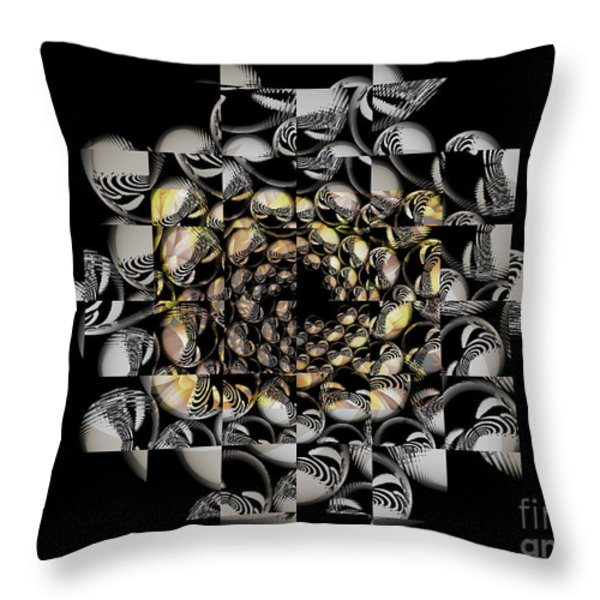Pictorial Confusion And Diffusion Throw Pillow by Elizabeth McTaggart