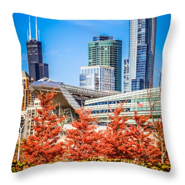 Picture of Chicago in Autumn Throw Pillow by Paul Velgos