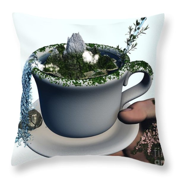 Piece Of Nature Cup Throw Pillow by Eric Nagel