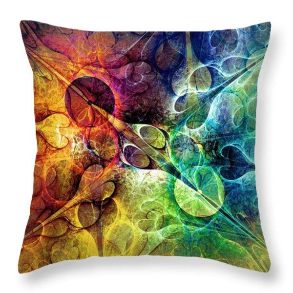 Piercing Throw Pillow by Anastasiya Malakhova