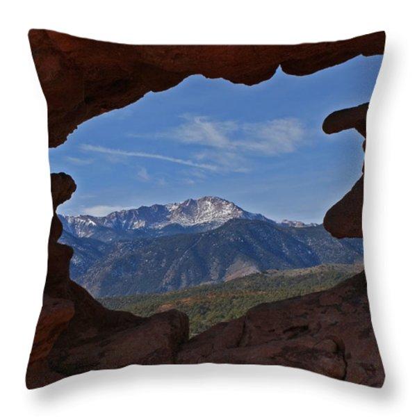 Pikes Peak 2 2012 Throw Pillow by Ernie Echols