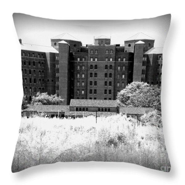 Pilgrim State Psychiatric Hospital Throw Pillow by Ed Weidman