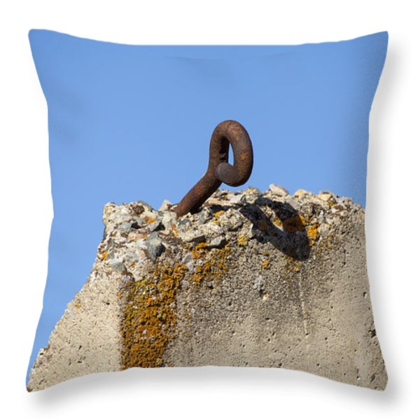 Pillar And Sky Throw Pillow by Fran Riley