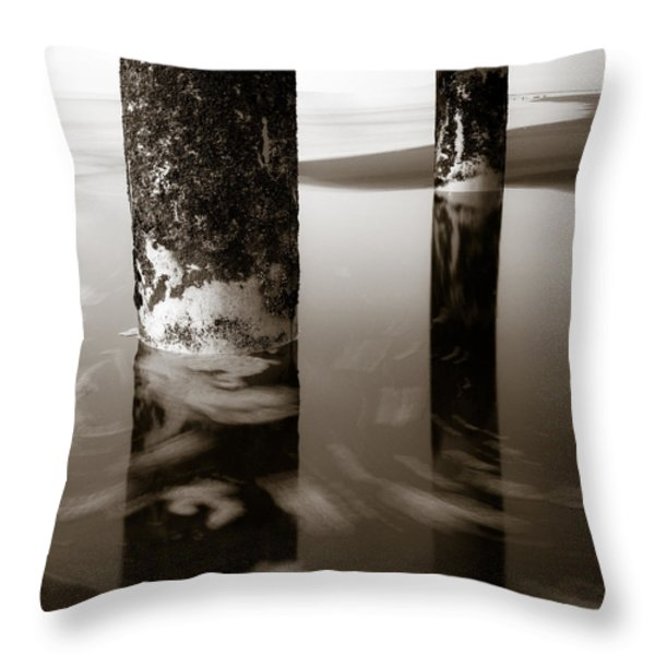 Pillars and Swirls Throw Pillow by Dave Bowman