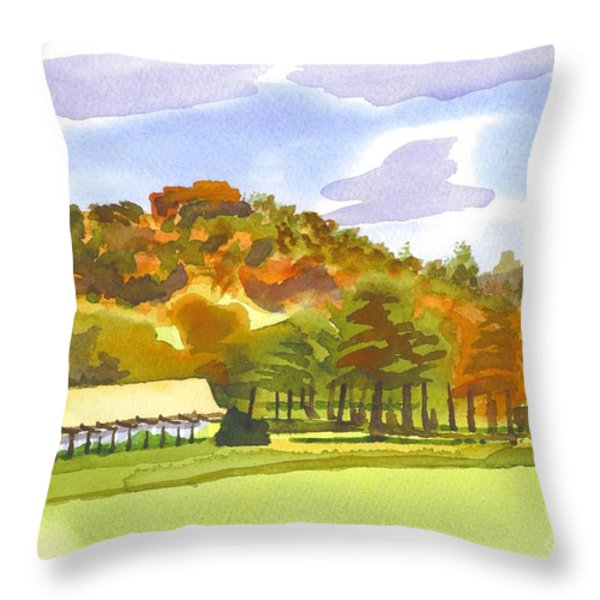 Pilot Knob Mountain Throw Pillow by Kip DeVore