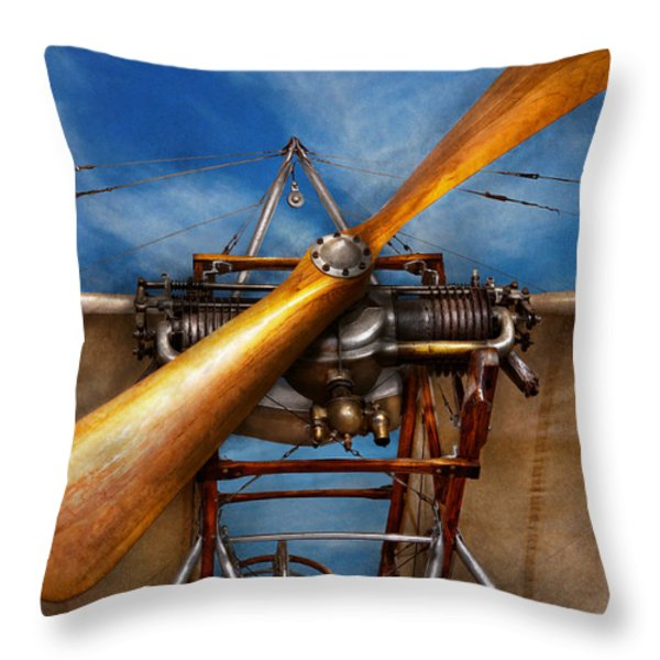 Pilot - Prop - They don't build them like this anymore Throw Pillow by Mike Savad