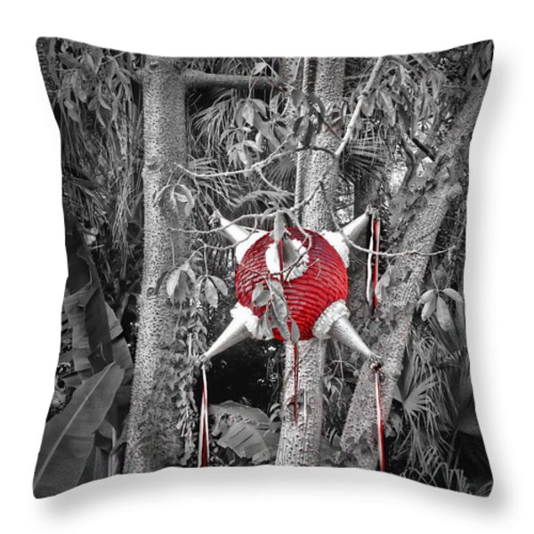Pinata In Woods Throw Pillow by Joan  Minchak