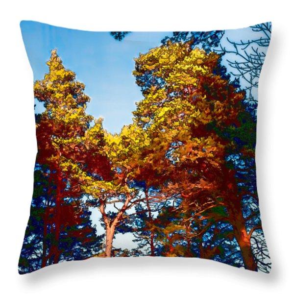 pine  Leif Sohlman Throw Pillow by Leif Sohlman